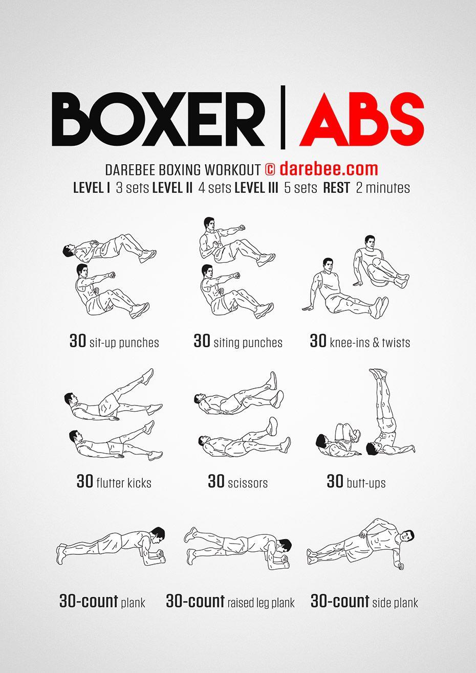 Boxer Abs Workout Abs Workout Boxer Abs Boxing Workout