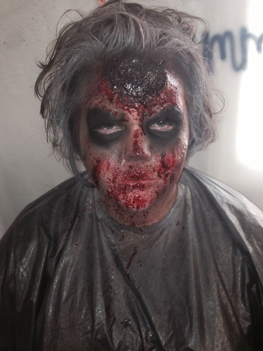 Zombie makeup six flags New England Fright Fest 2014/ makeup artist Emma Redman