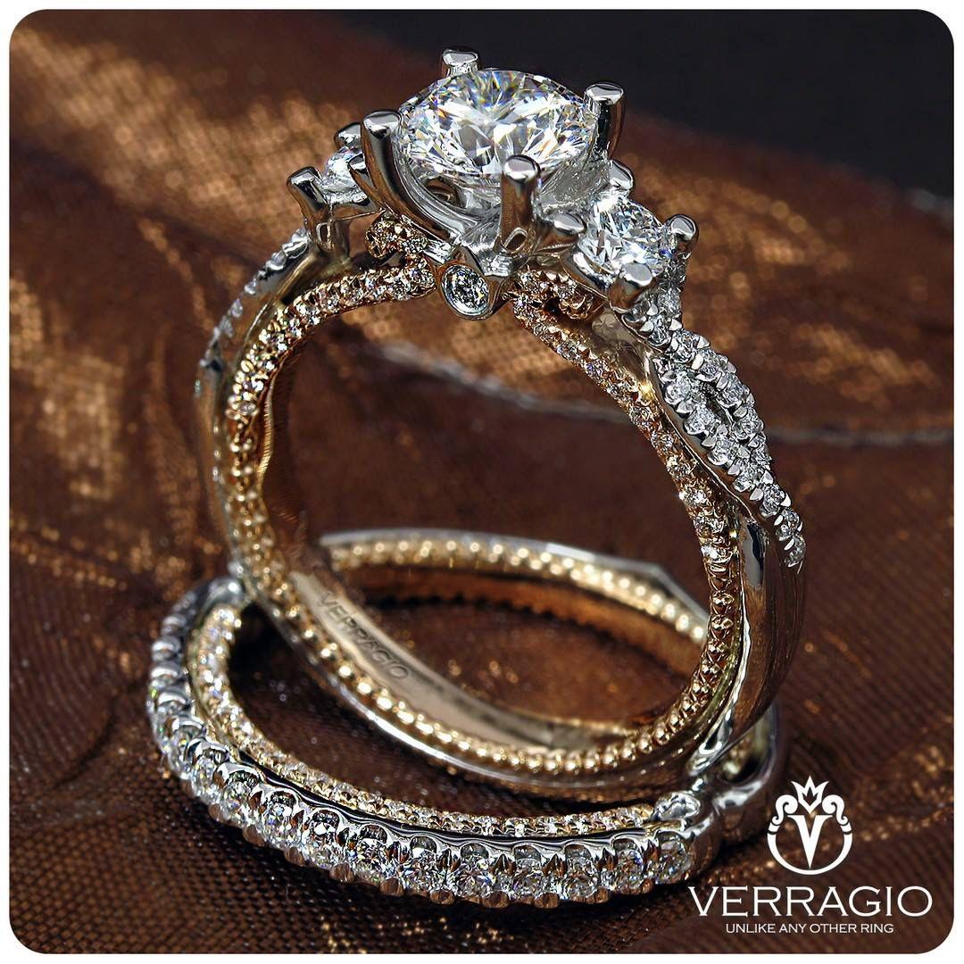 Verragio Couture 0450r 2wr Engagement Ring Antique Emerald Engagement Ring Antique Engagement Rings Vintage Verragio Engagement Rings