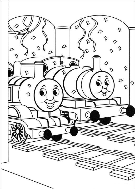 Coloring Page Thomas The Train Thomas The Train Train Coloring