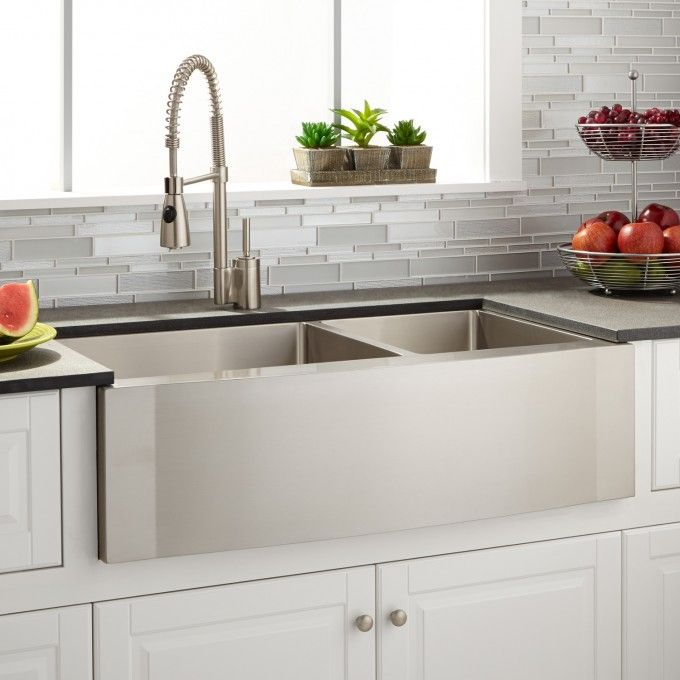 42 Optimum Stainless Steel Farmhouse Sink Curved Apron