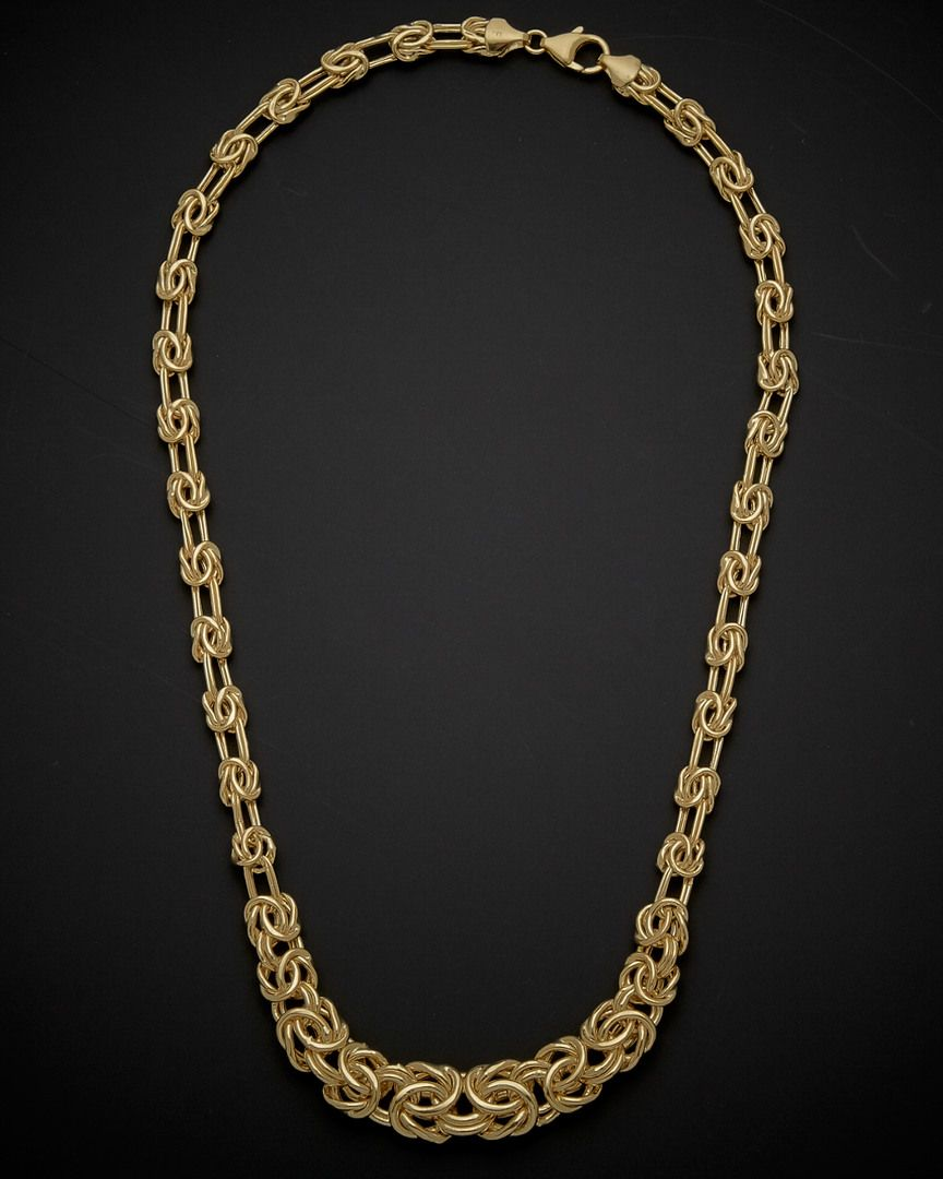 K italian gold graduated byzantine necklace is on rue shop it now