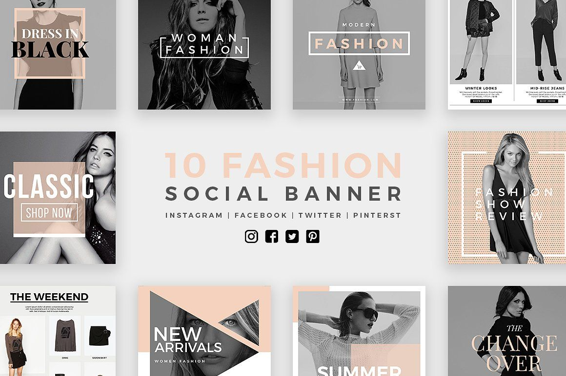 Fashion Social Banner Pack 2 by MinimalStudioCo on @creativemarket ...