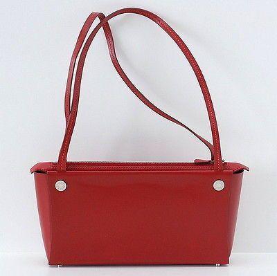 Hermes vintage bag POCKET Rouge H box leather SO charming do peek
