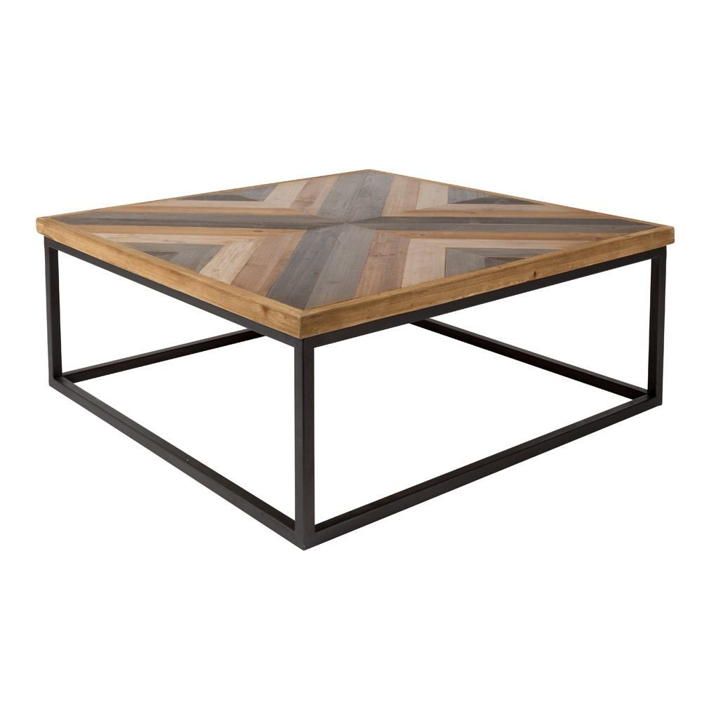 Houseology Hoxton Collection Joy Coffee Table Coffee Table Coffee Table Square Reclaimed Wood Coffee Table [ 1000 x 1000 Pixel ]