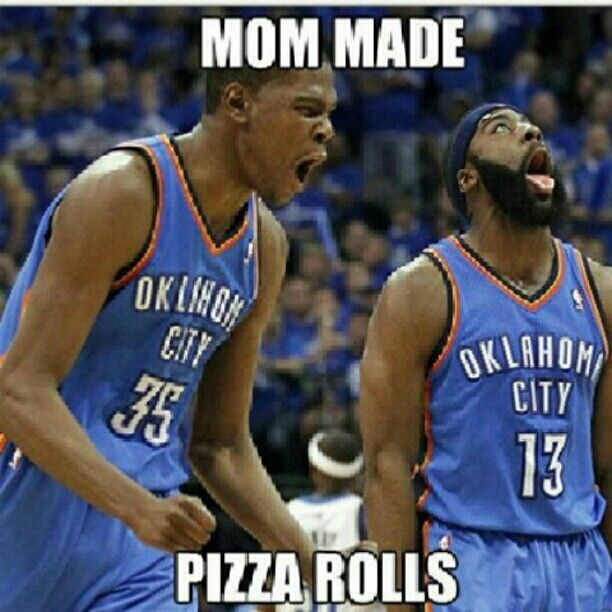 Funny Pictures Of Nba Players With Quotes: #OKC #PizzaRolls #NBA