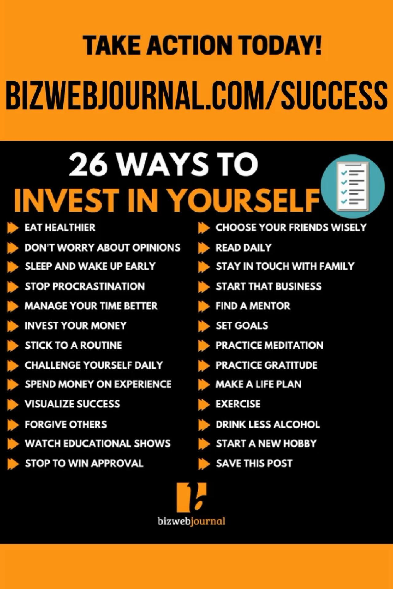 26 Ways To Invest In Yourself