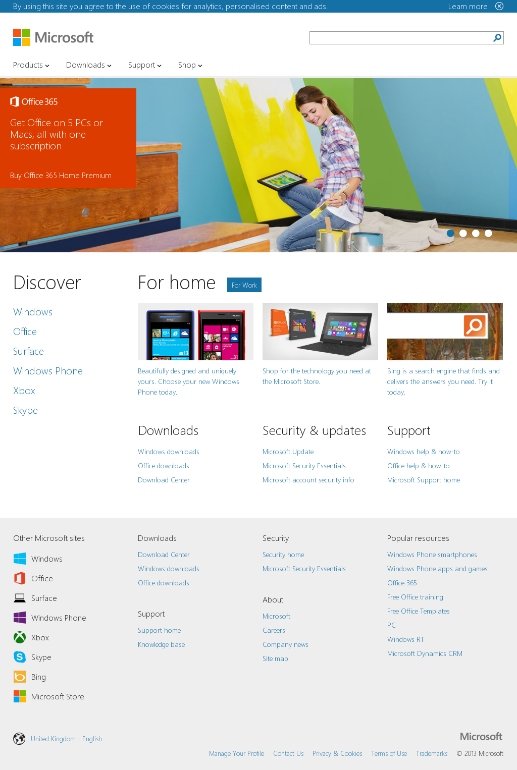 Website Http Www Microsoft Com En Gb Default Aspx Snapped On Snapito Windows Surface Microsoft Web Design