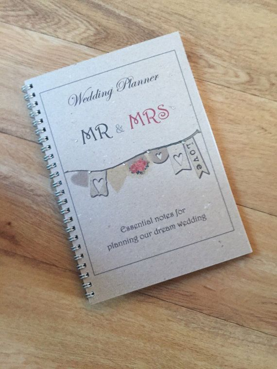A5 Wedding Planner Bride To Be Notebook Journal