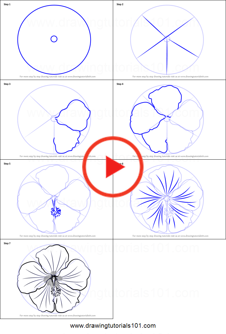 How To Draw A Shoe Flower Printable Drawing Sheet By Drawingtutorials101 Com In 2020 Flower Drawing Tutorials Easy Flower Drawings Realistic Flower Drawing