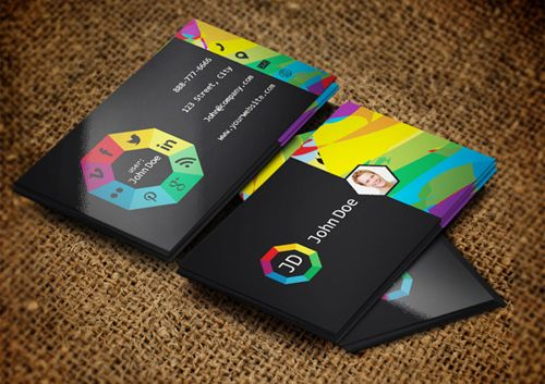 Social Websites Business Card Template Design Business Cards - Web design business cards templates