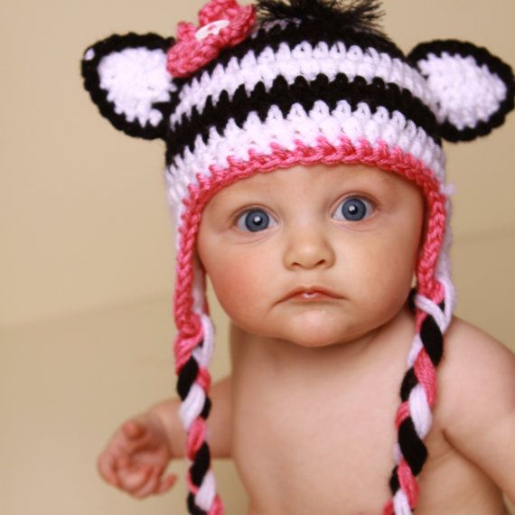 Cute zebra hat idea | Crochet ideas | Pinterest | Bebé