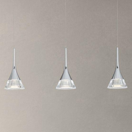 John Lewis Zion LED Cones Bar Ceiling Light, 3 Light