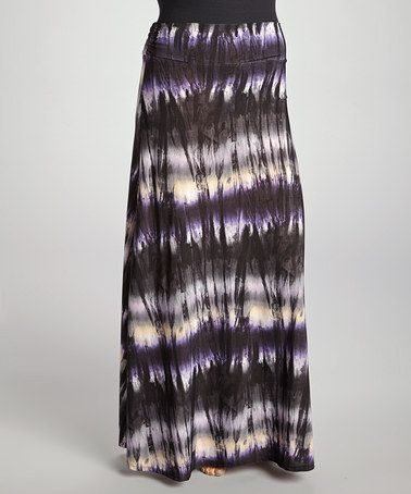 take a look at this black & purple tie dye skirt - plus by canari