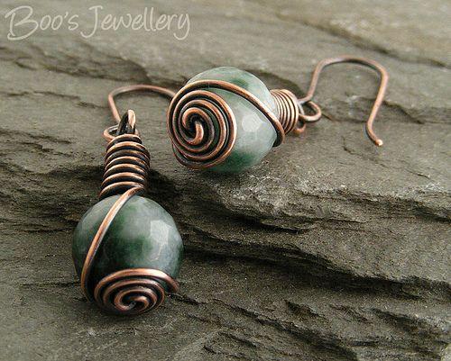 Wire Wrapped Stone Earrings Threader Earrings Handmade Earrings Lightweight Women\u2019s Dangle EarringsGift For Her