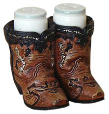 Cowboy Boots Salt and Pepper Set at Cowgirl Blondie's Dumb Blonde Boutique - Western Lifestyle with a Kick!