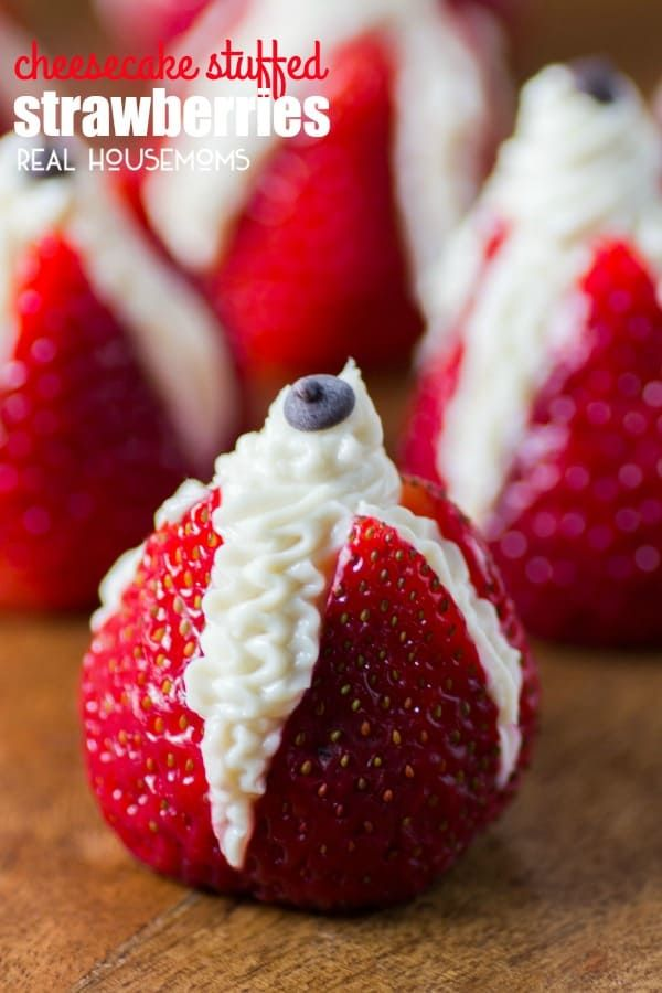 recipe: cheesecake stuffed strawberries pinterest [22]