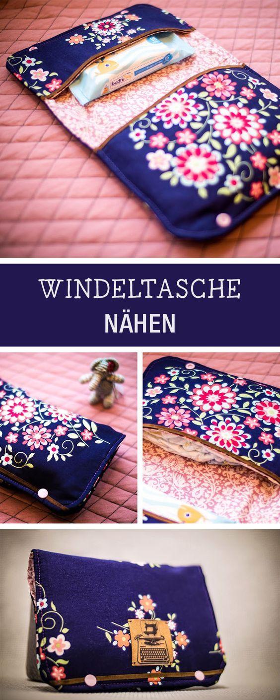 Photo of Nähanleitung für eine Windeltasche, Nähen für Babys / diy sewing tutorial fo…