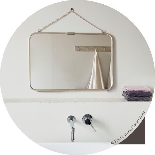 miroir vintage rectangulaire avec chaînette .:serendipity.fr ...