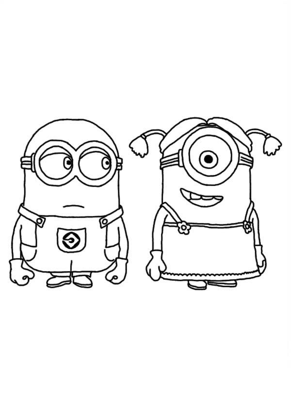 189091 despicable me 2 stuart coloring pages in - Despicable Coloring Pages Dave