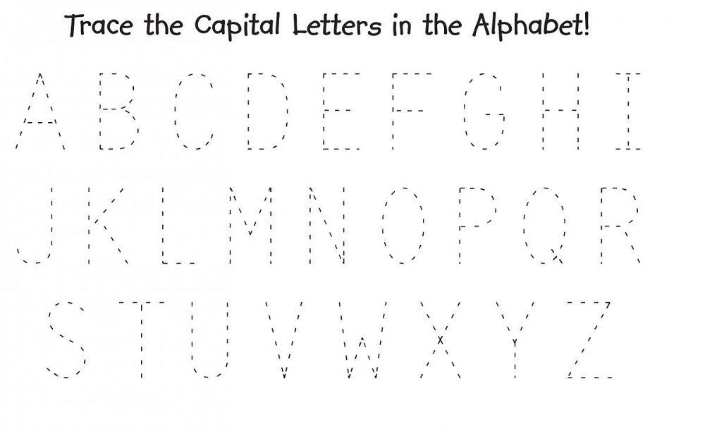 traceable alphabet worksheets a z alphabet worksheets. Black Bedroom Furniture Sets. Home Design Ideas