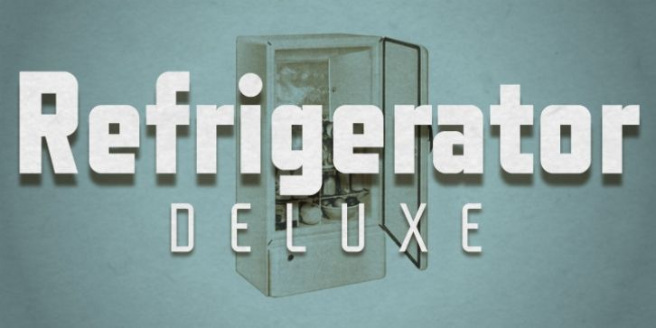 Refrigerator Deluxe font download | Fonts | Fonts, Cool