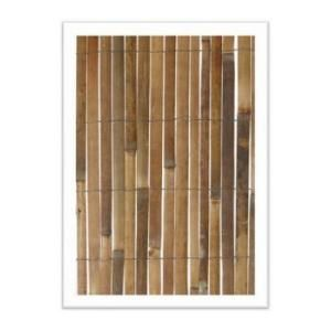 Bamboo fence attaches to chain link fence for instant ...