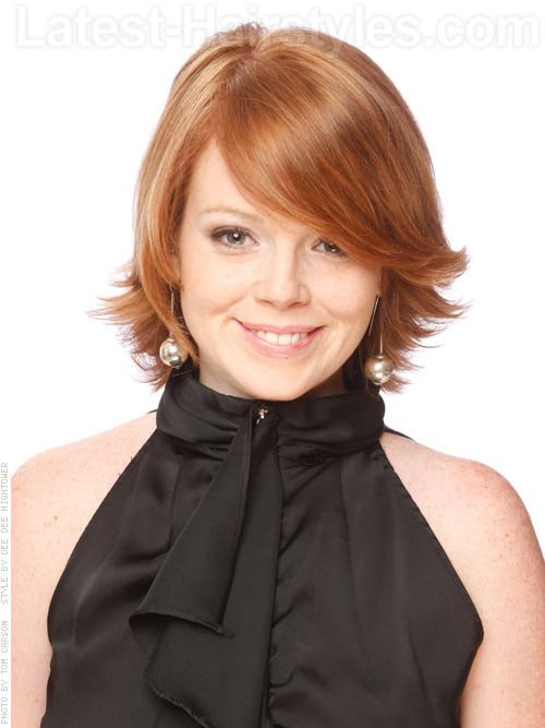 hair flip style flip out gorgeous layered auburn style with side flip a 9021