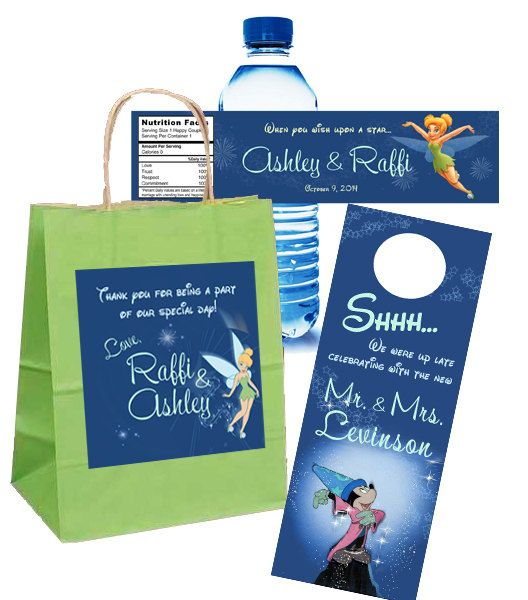 20 Disney Tinkerbell Wedding Welcome Bag by 4WeddingWelcomeBags