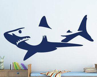Shark   Shark Decal/ Shark Sticker/ Shark Wall Decal/ Great White Shark/