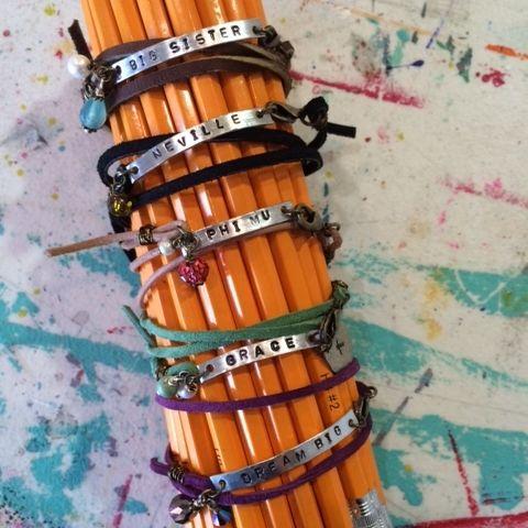 Leather Sentiments Custom Wrap Bracelet