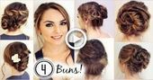 NO HEAT HAIRSTYLES! 4 Unique Messy Buns Jackie Wyers #hair #Easyhairstyles #no #...#buns #easyhairstyles #hair #hairstyles #heat #jackie #messy #unique #wyers