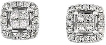Effy Diamond And 14K White Gold Stud Earrings, 0.52 TCW on shopstyle.com