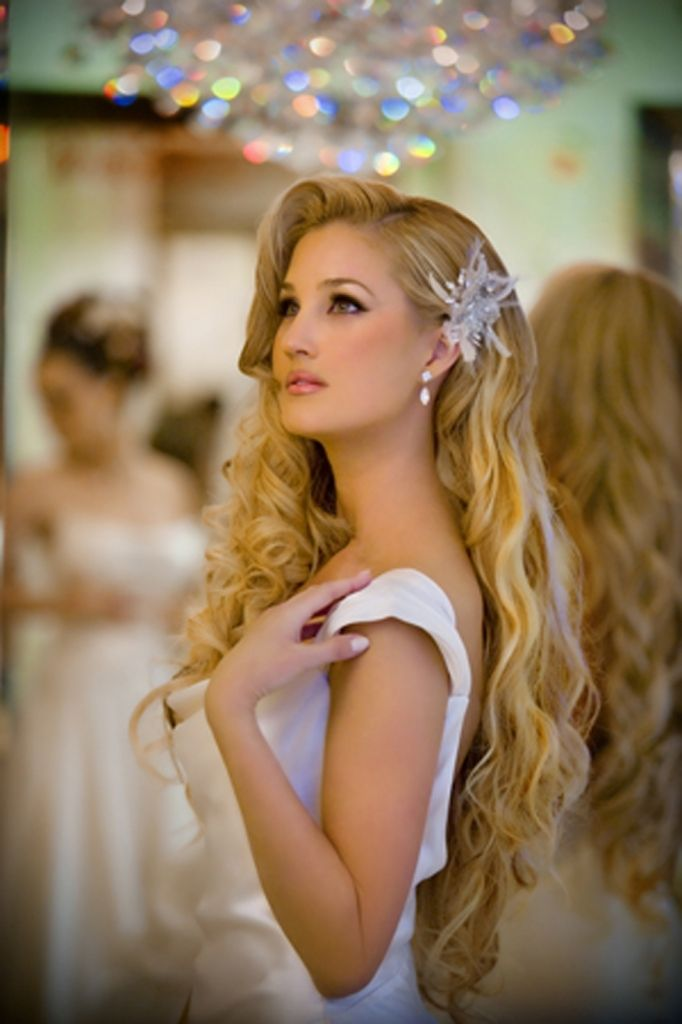 Curly Hairstyle For Long Straight Hair Semi Formal