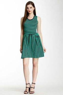 French Connection Martha Striped Jersey Dress - hautelook.com