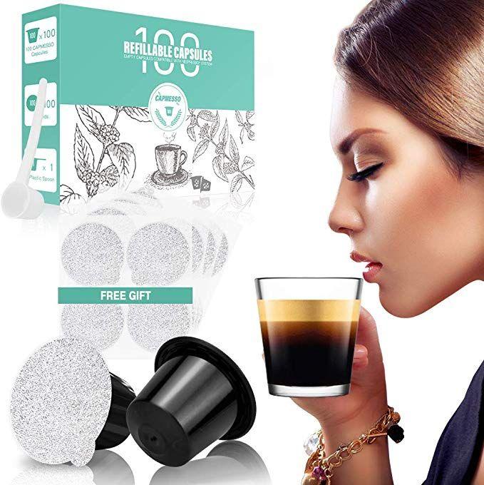 CAPMESSO Reusable Espresso Capsules -Refillable Capsule ...