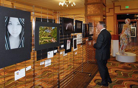 Freestanding SlatGrid Display for Tradeshows and Retail | SlatGrid Freestanding