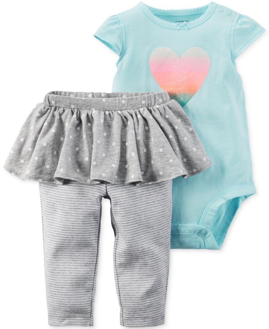 13e363088b1f9 Carter's Baby Girls' 2-Piece Heart Bodysuit & Tutu Pants Set | Neice ...