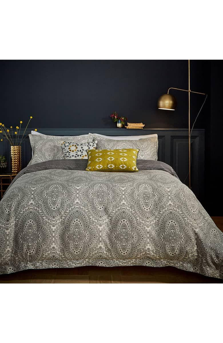 Hippie-stil zimmerdekor ziba comforter u sham set main color grey  mbg  londonderry in