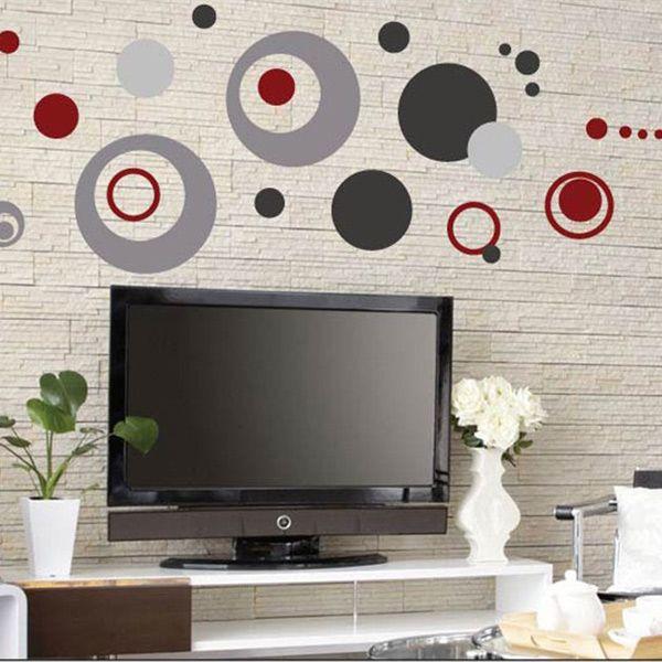 Moda color c rculo pegatina de paredes vinilo decorativo for Pegatinas vinilo decoracion