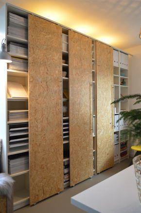 DIY Schiebetüren selber machen IKEA Hack Billy (7) Dekoration - kleiderschrank schiebeturen stauraumwunder