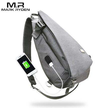 026fee0979f1 Markryden New Arrivals USB Design High Capacity Chest bag Men ...
