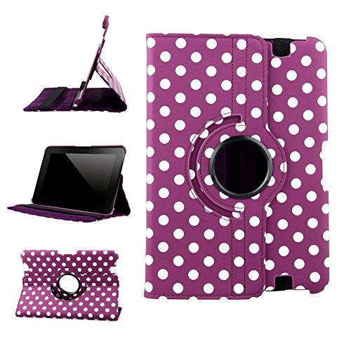 "myLife Candy Purple and Shell White {Polka Dots Scattered Dots Vintage Speckles} 360 Degree Rotating Case for Amazon Kindle Fire 8.9 HDX (High Quality Koskin Faux Leather Cover + Slim Lightweight Design) ""All Ports Accessible"" myLife Brand Products http://www.amazon.com/dp/B00TOZ4RQK/ref=cm_sw_r_pi_dp_NE2avb0A9B25D"