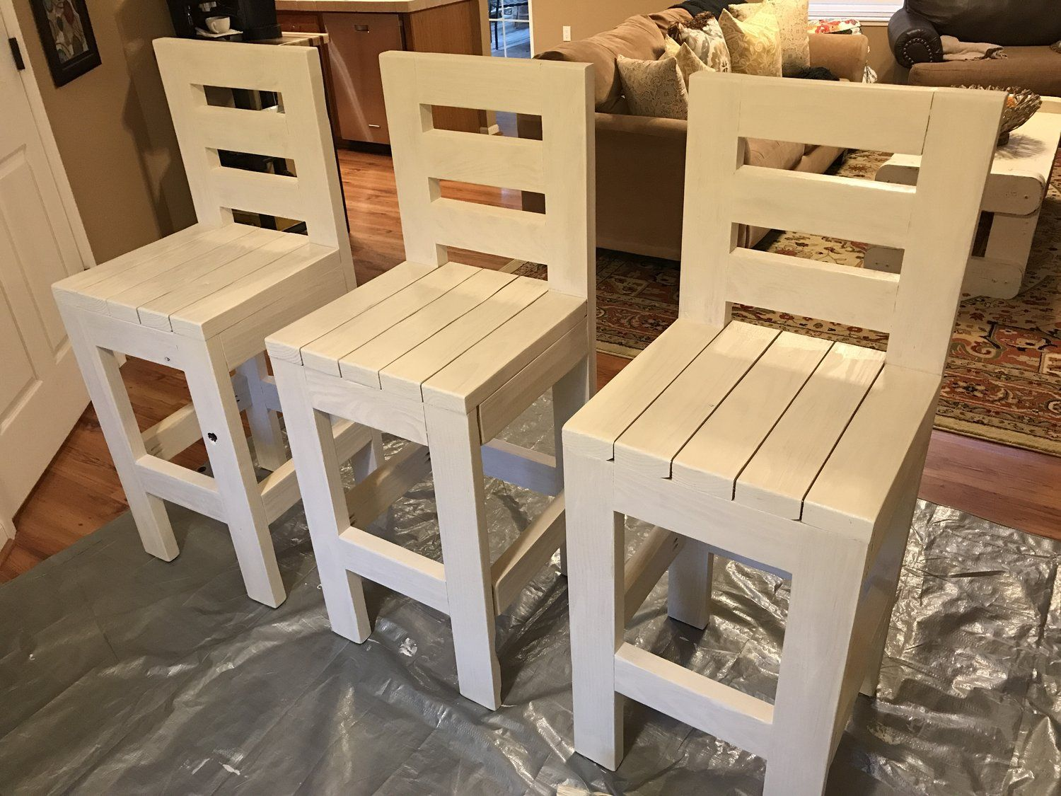 Admirable Farmhouse Bar Stools We Build These Are Very Sturdy And Add Gmtry Best Dining Table And Chair Ideas Images Gmtryco