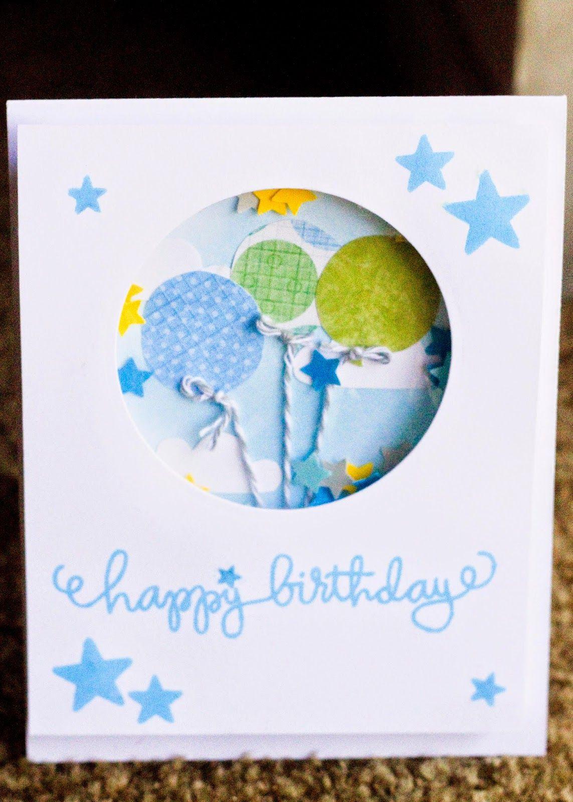 Handmade Birthday Shaker Card