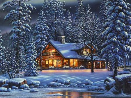 Winter House Other Amp Abstract Background Wallpapers On