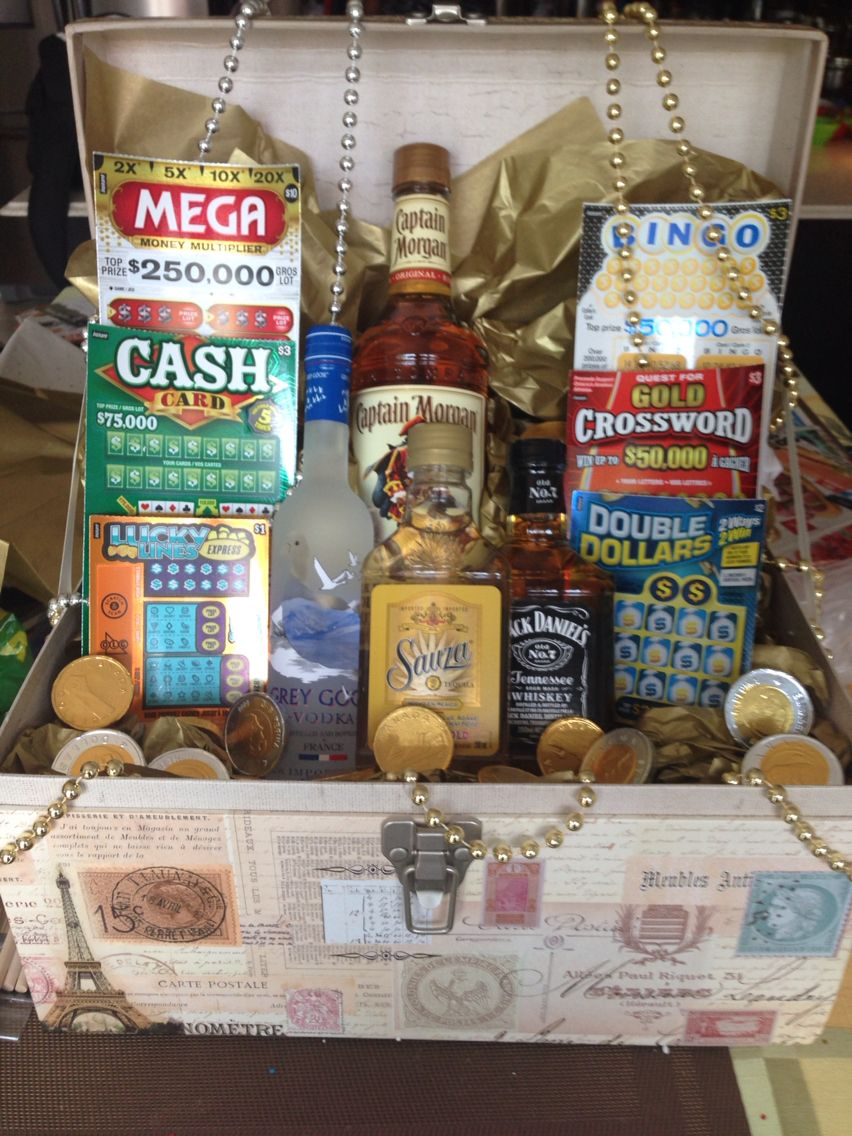 Jack and jill raffle basket gift baskets pinterest