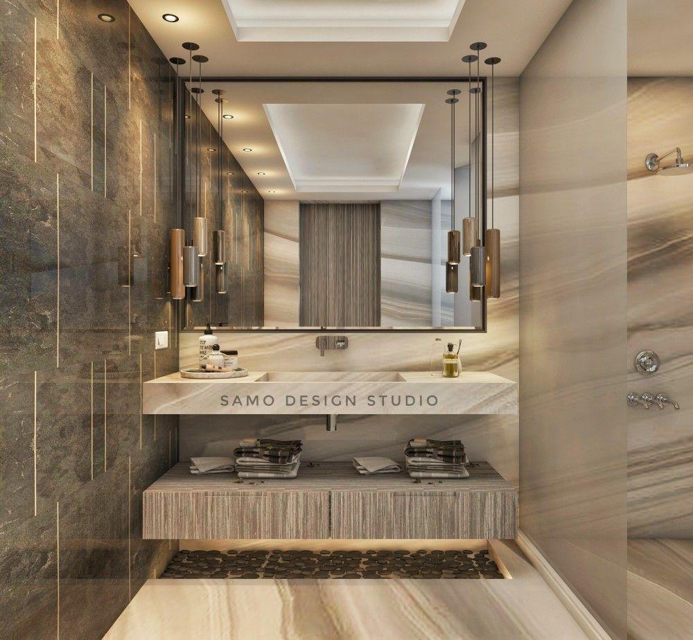 Washroom Visualization Render Design Studio 3dsmax Vray Cg Samo Interior Toilet Counter Vanity Wal Interior Bathroom Mirror Lighted Bathroom Mirror
