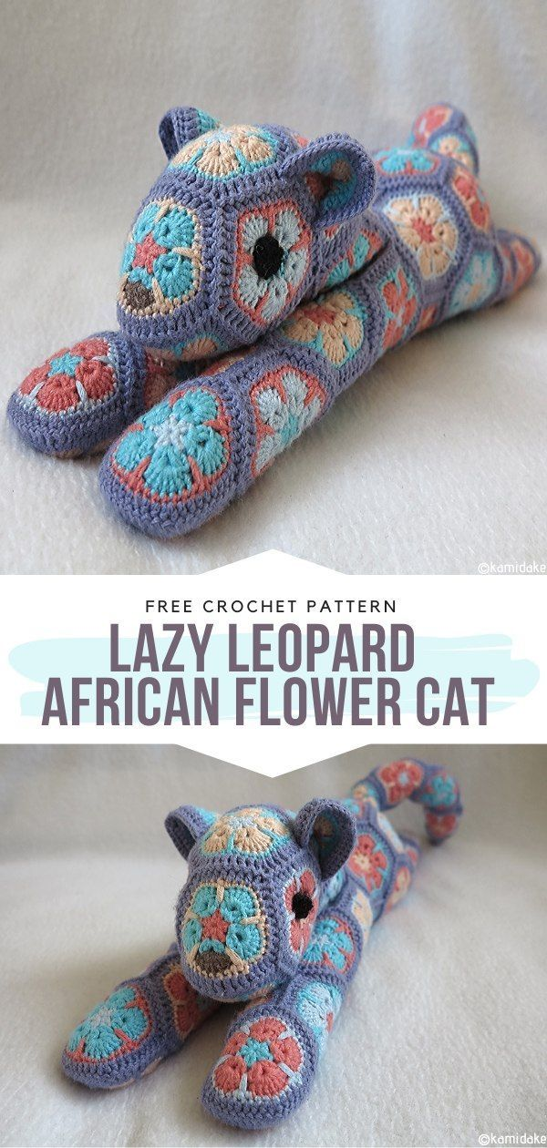 How to Crochet Lazy Leopard - African Flower Cat