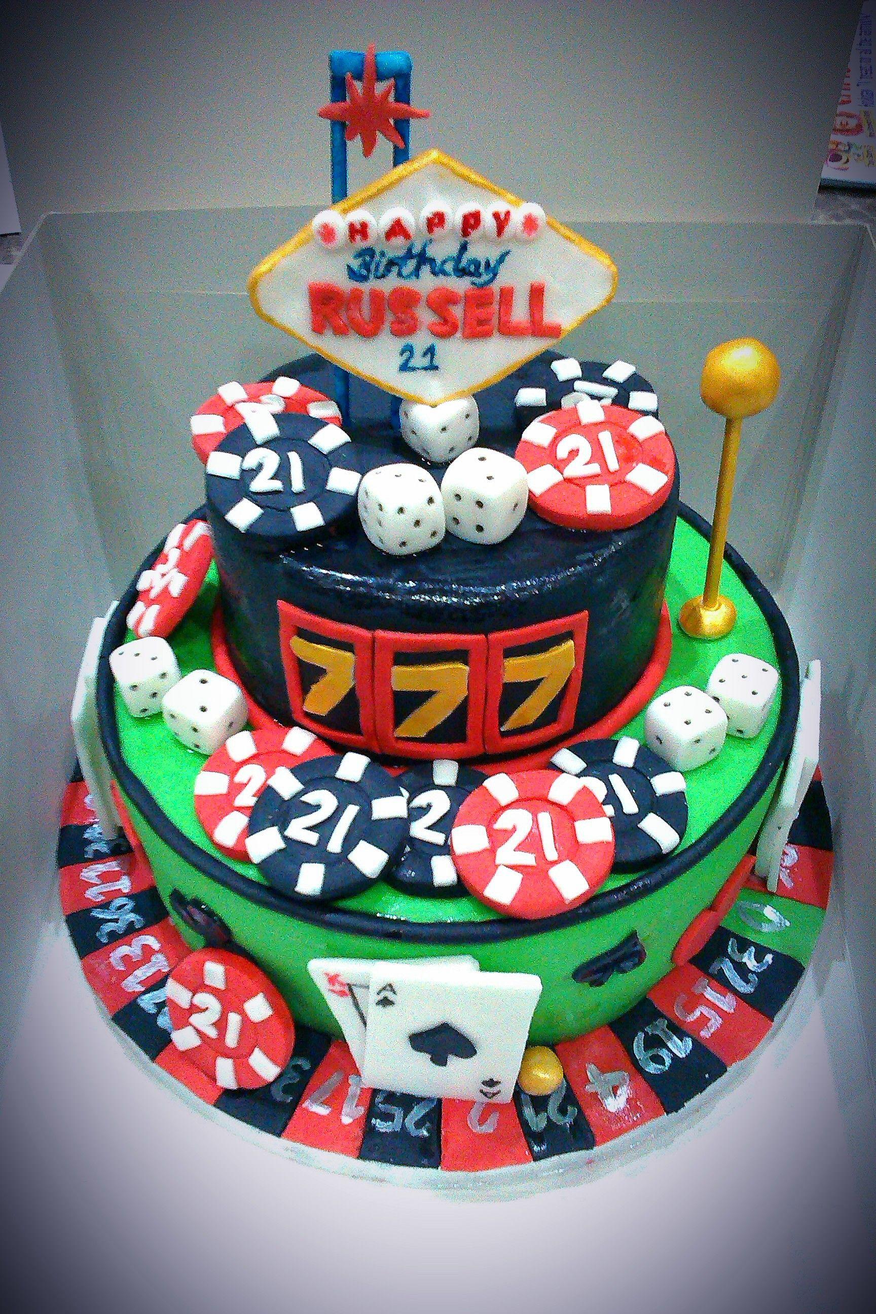 Incredible Birthday Cakes 21St Casino Cake Casino Cakes How To Make Cake Funny Birthday Cards Online Barepcheapnameinfo